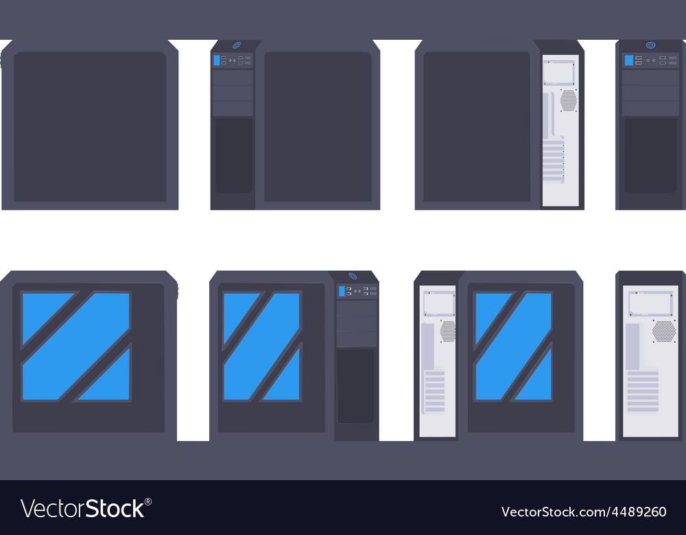 Black pc case vector | Price: 1 Credit (USD $1)