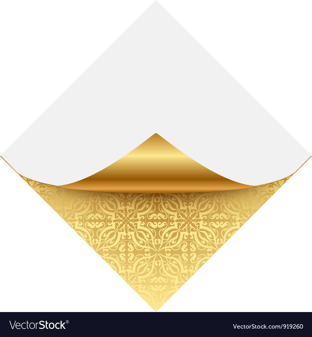 Gold ornate note paper vector | Price: 1 Credit (USD $1)