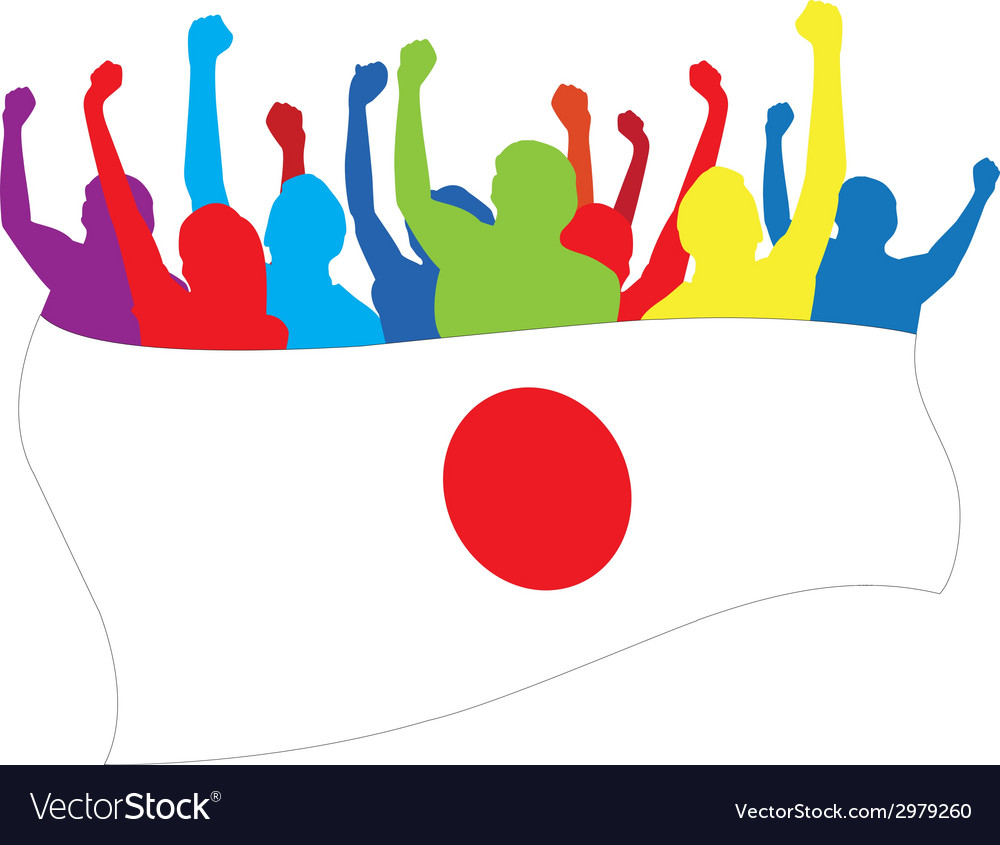 Japan fans vector | Price: 1 Credit (USD $1)