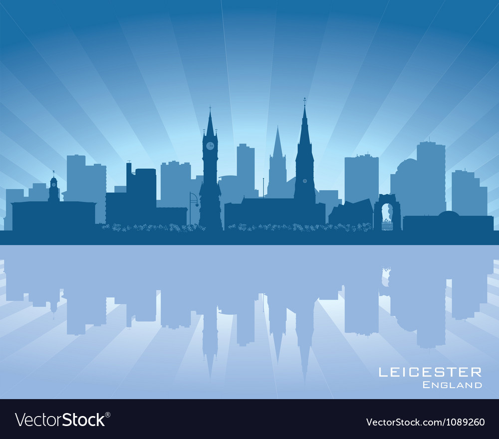 Leicester england skyline vector | Price: 1 Credit (USD $1)
