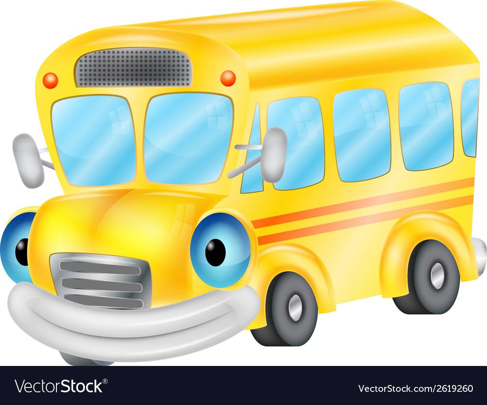 School bus cartoon vector | Price: 1 Credit (USD $1)