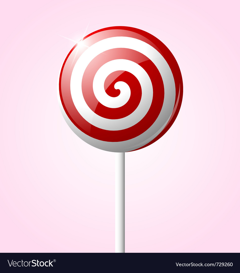 Sweet glossy lollipop isolated on pink background vector | Price: 1 Credit (USD $1)