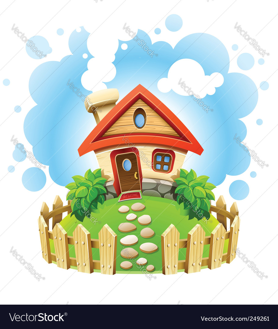 Fairytale house vector | Price: 3 Credit (USD $3)