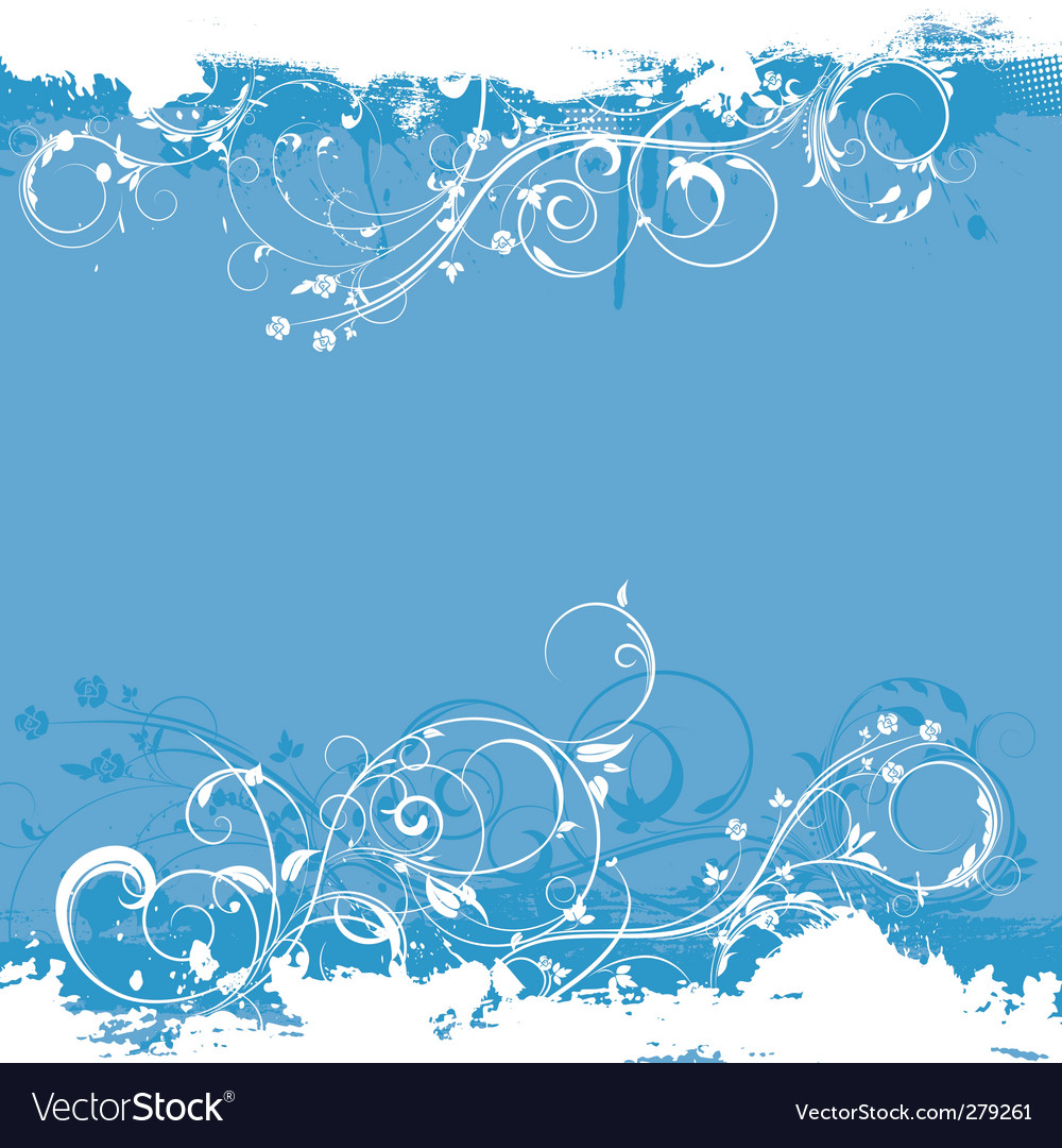 Floral grunge design vector | Price: 1 Credit (USD $1)