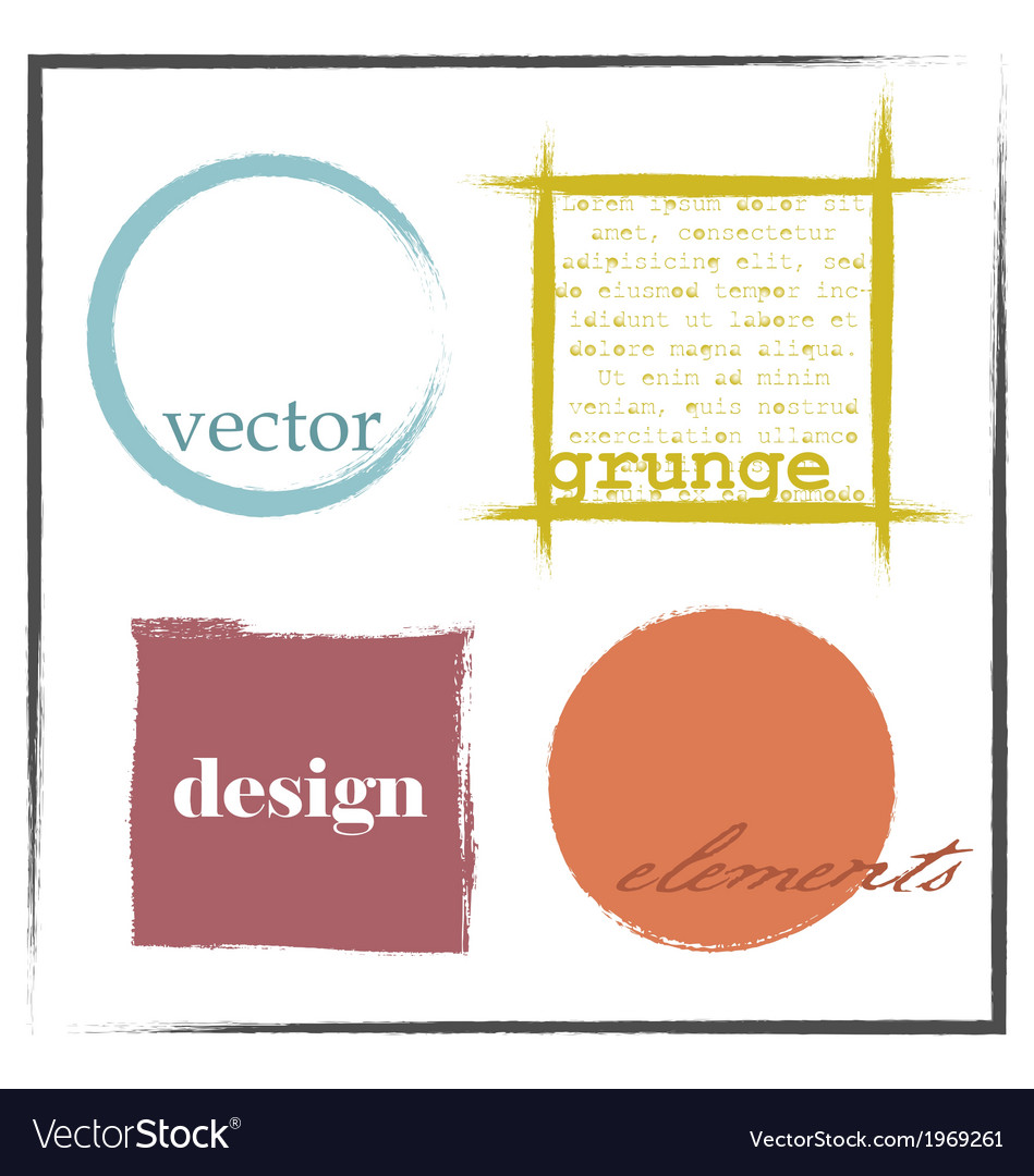 Grunge design elements and frames vector | Price: 1 Credit (USD $1)
