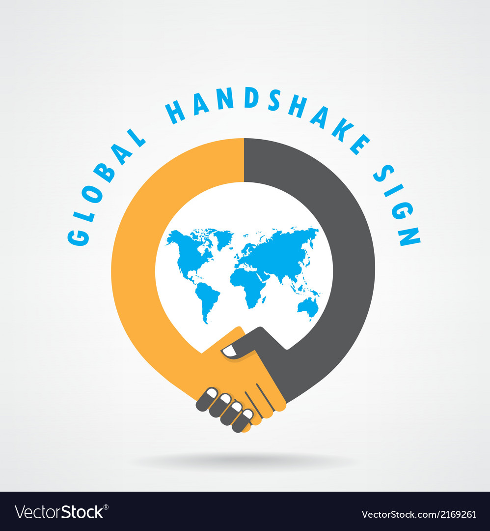 Handshake abstract sign vector | Price: 1 Credit (USD $1)