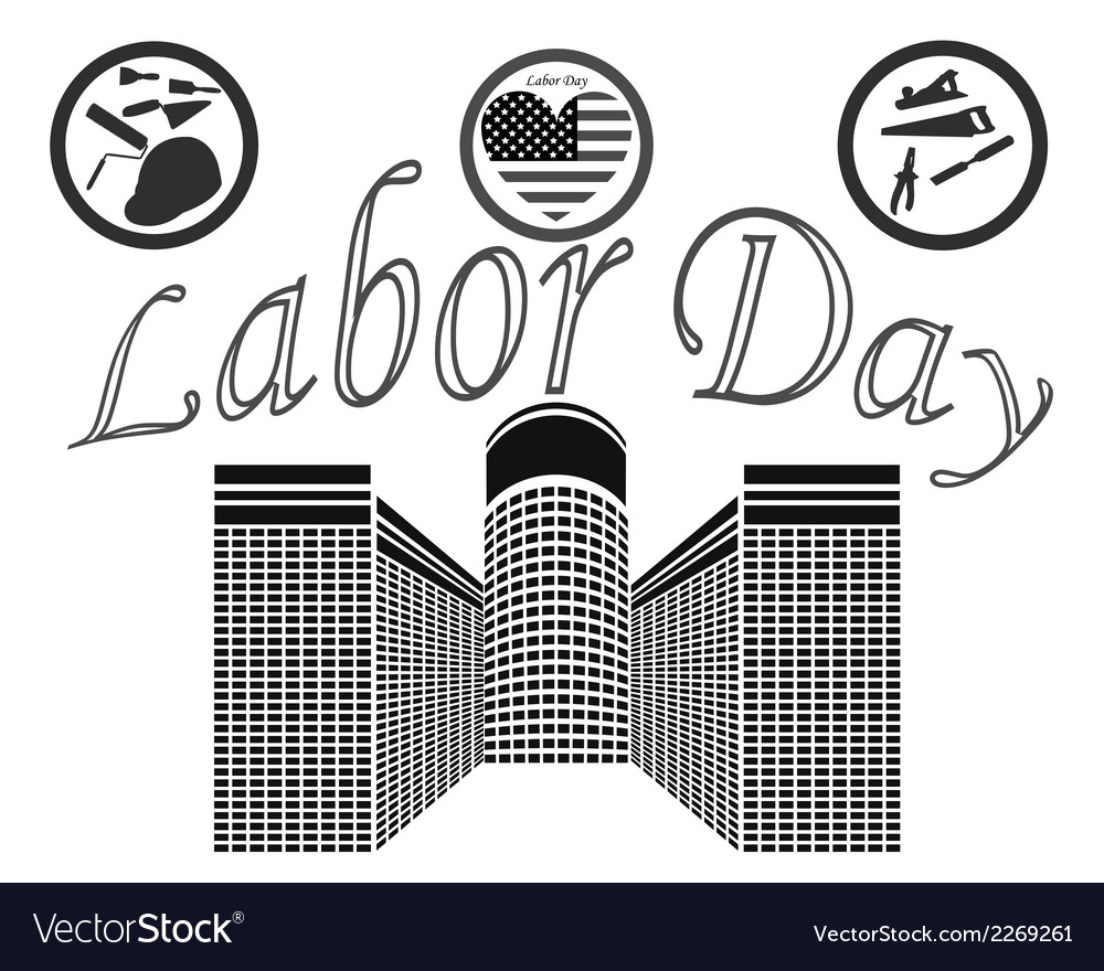 Labor day in the united states of america vector | Price: 1 Credit (USD $1)