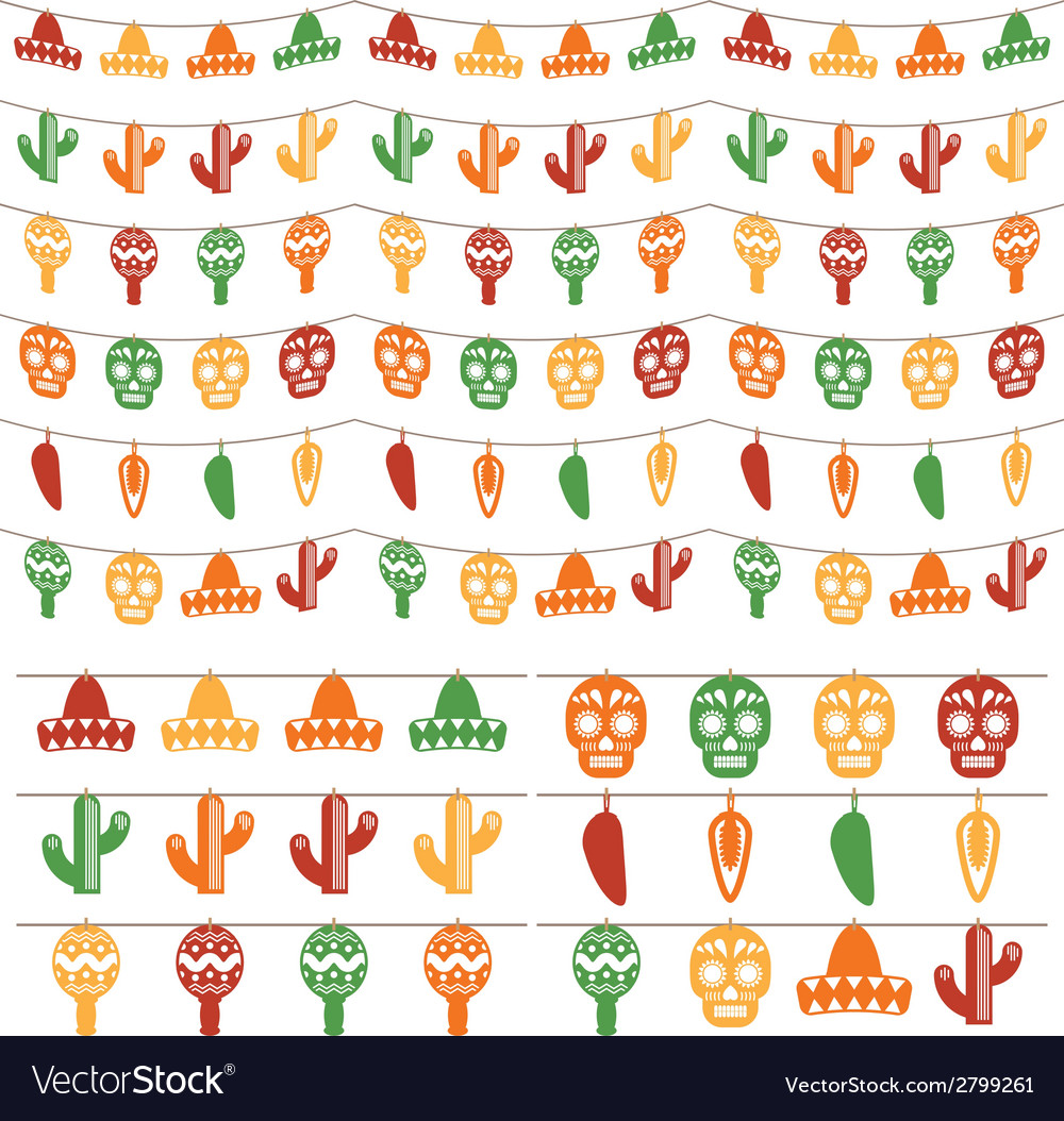 Mexican bunting vector | Price: 1 Credit (USD $1)