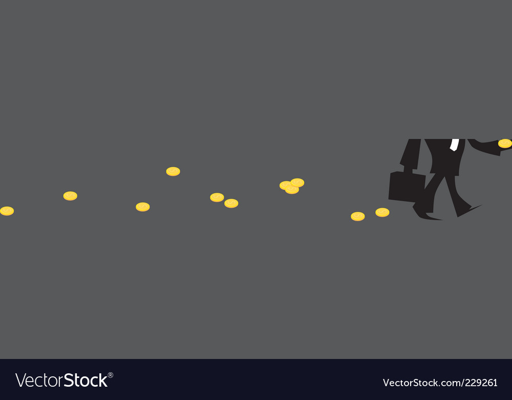 Money trail vector | Price: 1 Credit (USD $1)