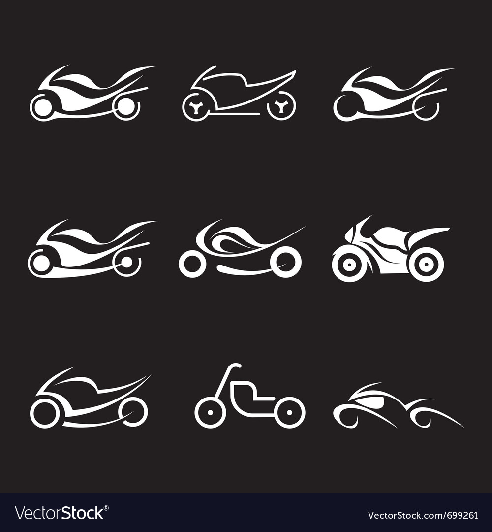 Motorcycles icons vector | Price: 1 Credit (USD $1)