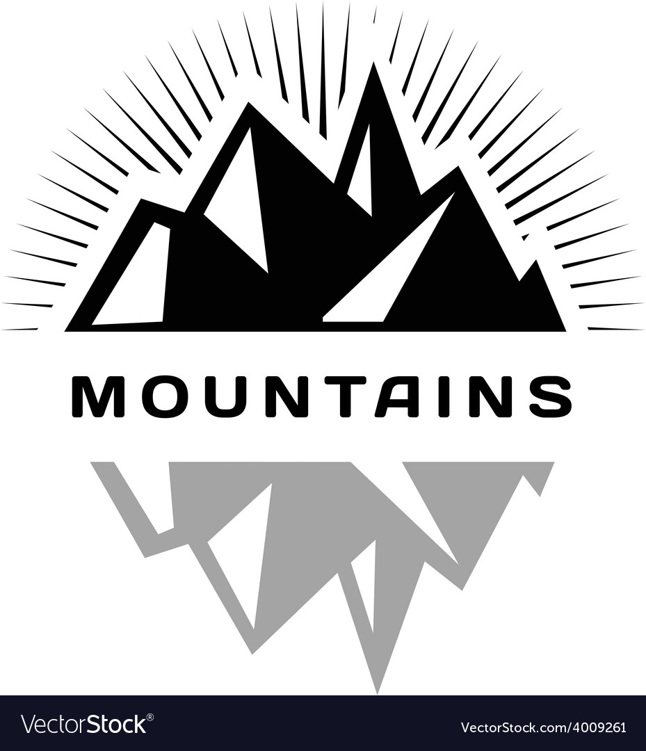 Mountains logo for a firm company or corporation vector | Price: 1 Credit (USD $1)