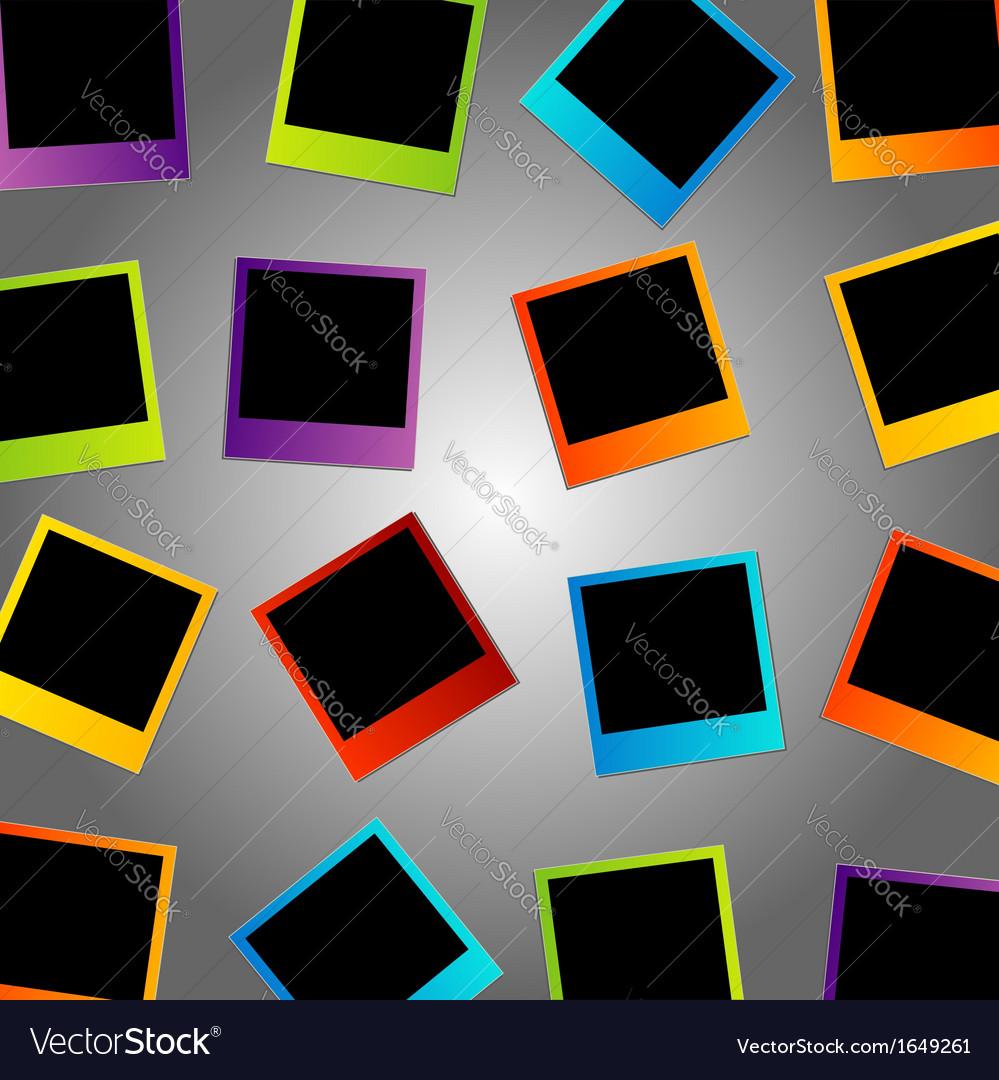 Polaroid background vector | Price: 1 Credit (USD $1)