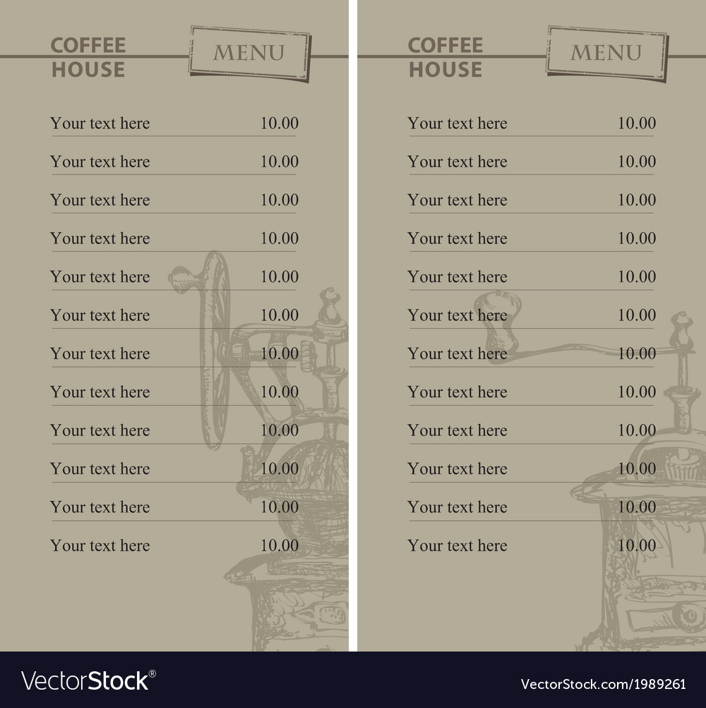 Prices for coffee vector