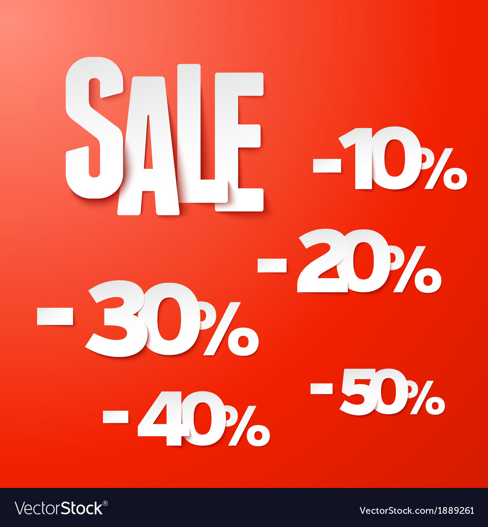 Sale percents paper set vector | Price: 1 Credit (USD $1)