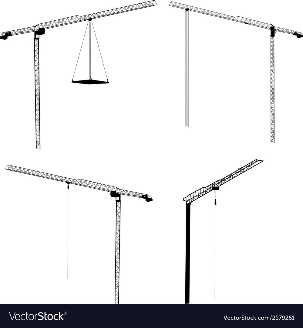 Set of cranes vector | Price: 1 Credit (USD $1)