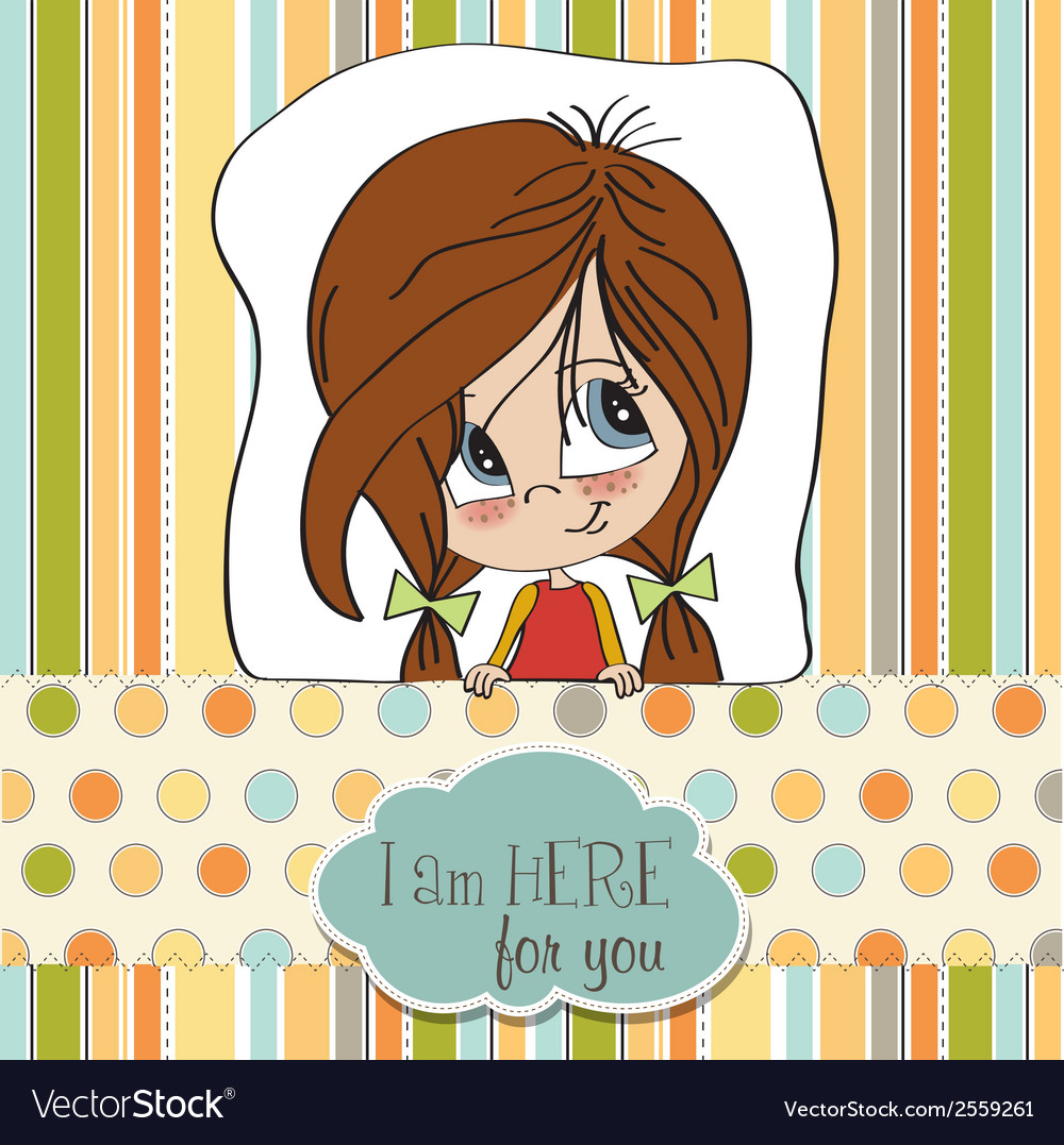 Young girl smiling vector | Price: 1 Credit (USD $1)