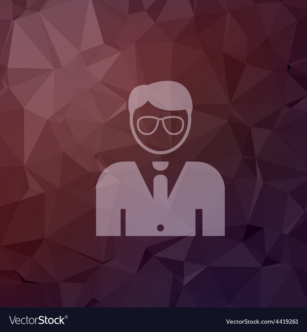 Young handsome man in flat style icon vector   Price: 1 Credit (USD $1)