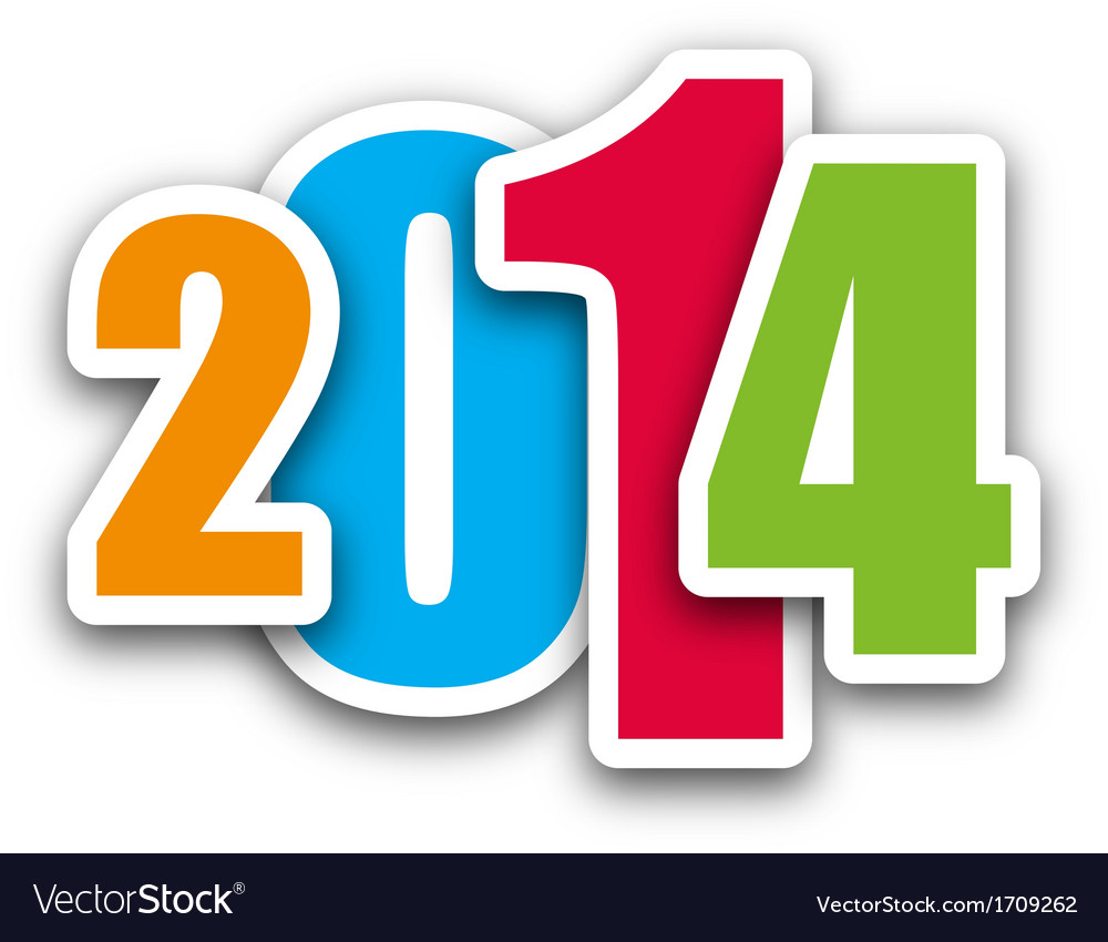 2014 coloured vector | Price: 1 Credit (USD $1)