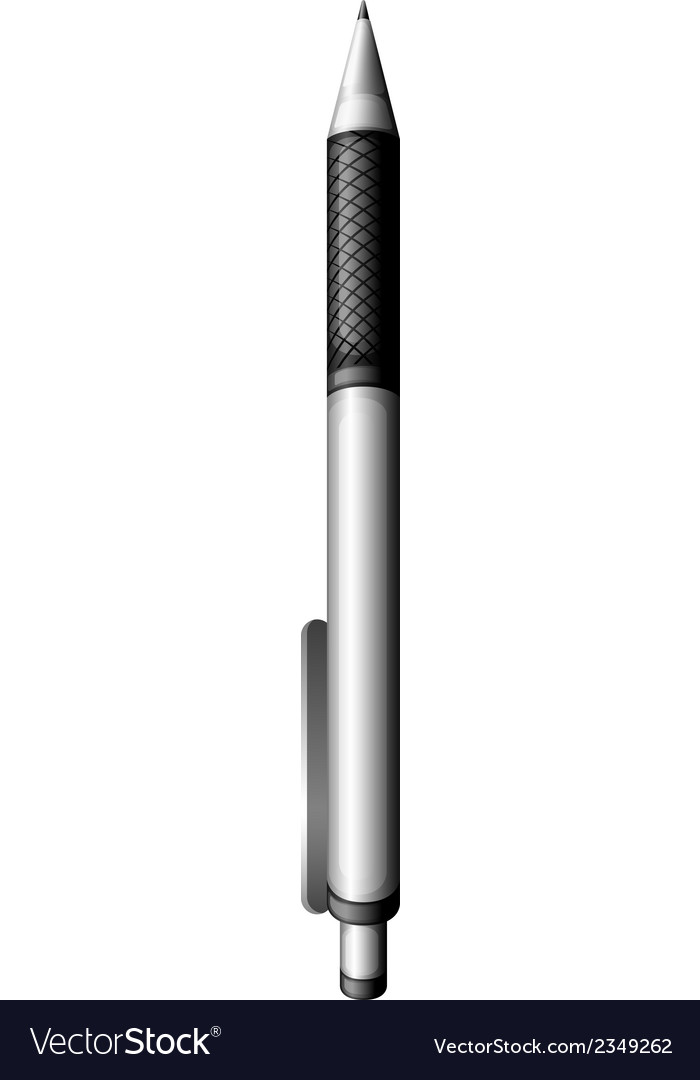 A grey ballpen vector | Price: 1 Credit (USD $1)