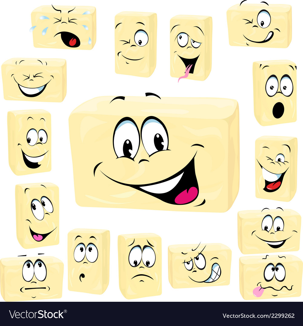 Butter cartoon butter cartoon vector | Price: 1 Credit (USD $1)