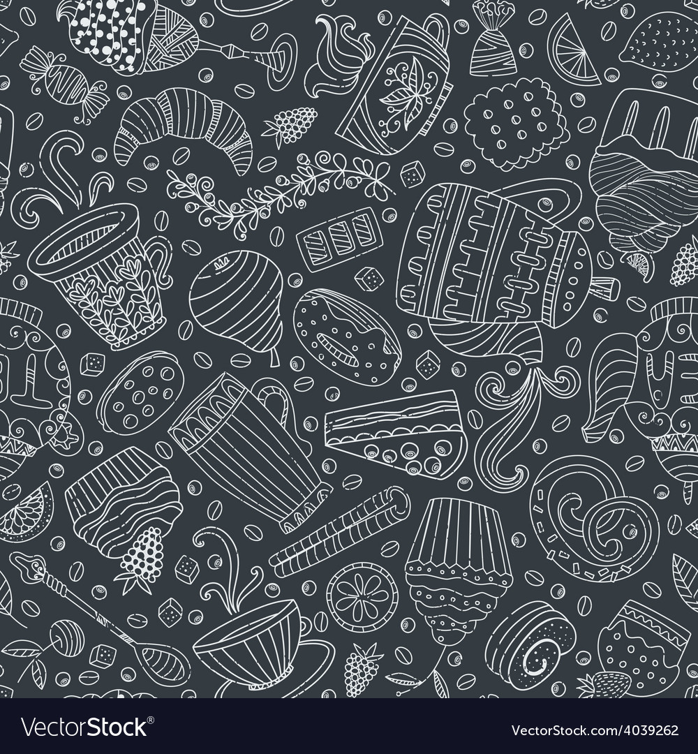 Dessert seamless pattern vector | Price: 1 Credit (USD $1)