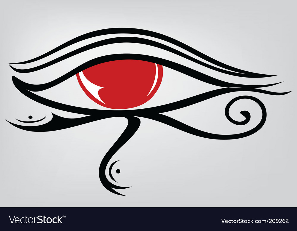 Egyptian eye ra vector | Price: 1 Credit (USD $1)