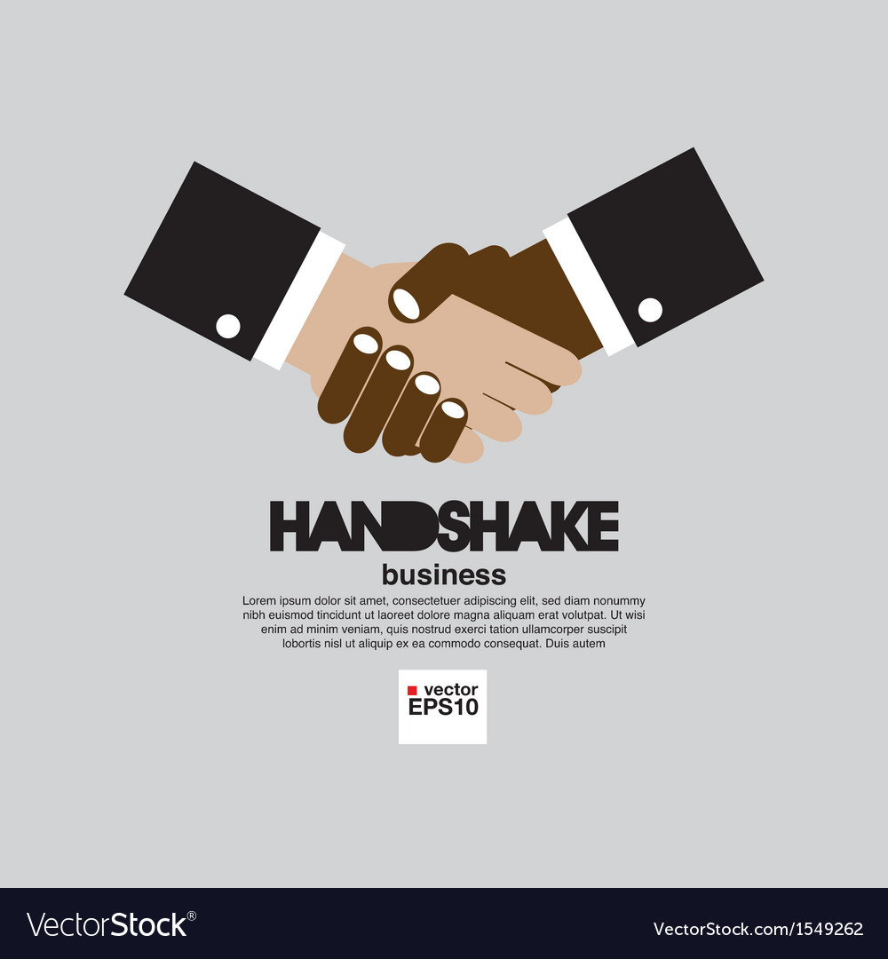 Handshake simply and clean business concept vector | Price: 1 Credit (USD $1)