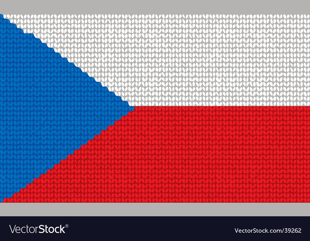 Knitted czech republic flag vector | Price: 1 Credit (USD $1)