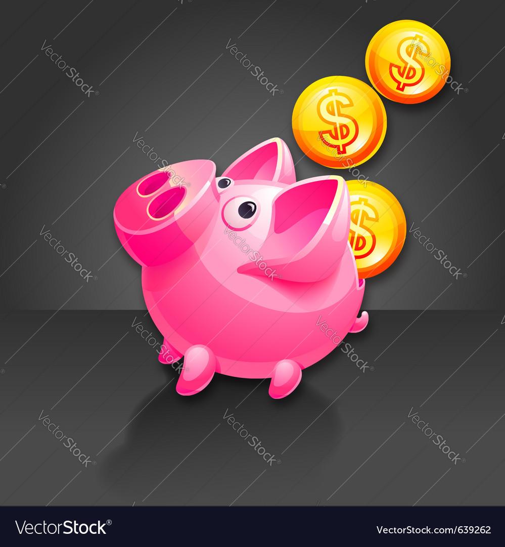 Piggy bank vector | Price: 3 Credit (USD $3)