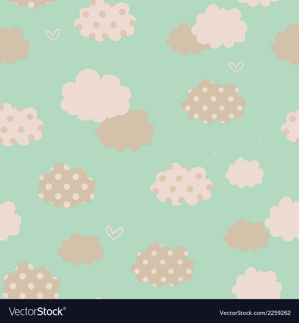 Seamless pattern with clouds vector | Price: 1 Credit (USD $1)