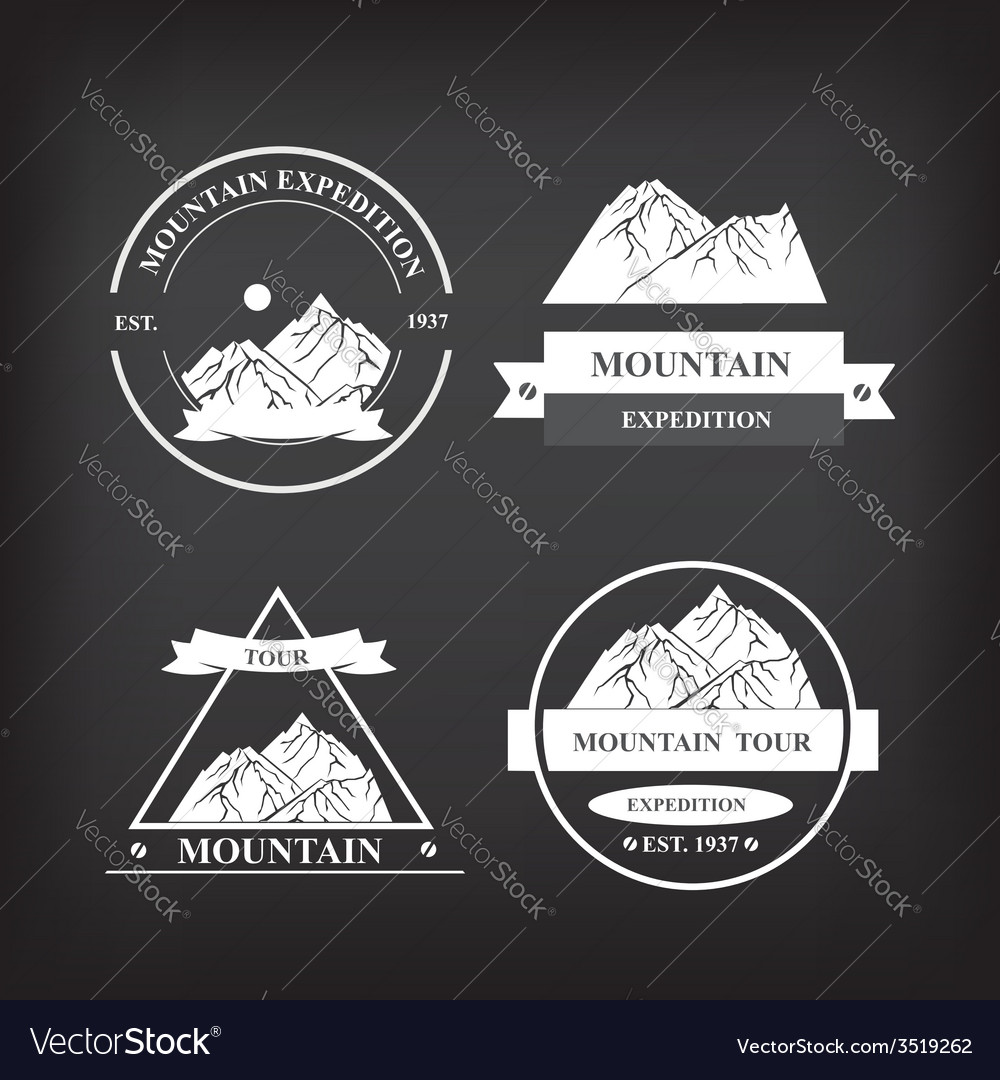 Set of expedition badges vector   Price: 1 Credit (USD $1)