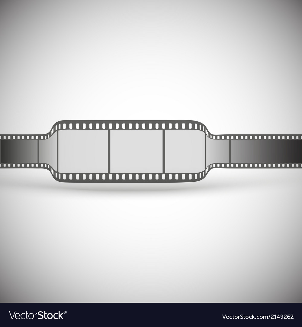 Transparent film strip on gray background vector | Price: 1 Credit (USD $1)