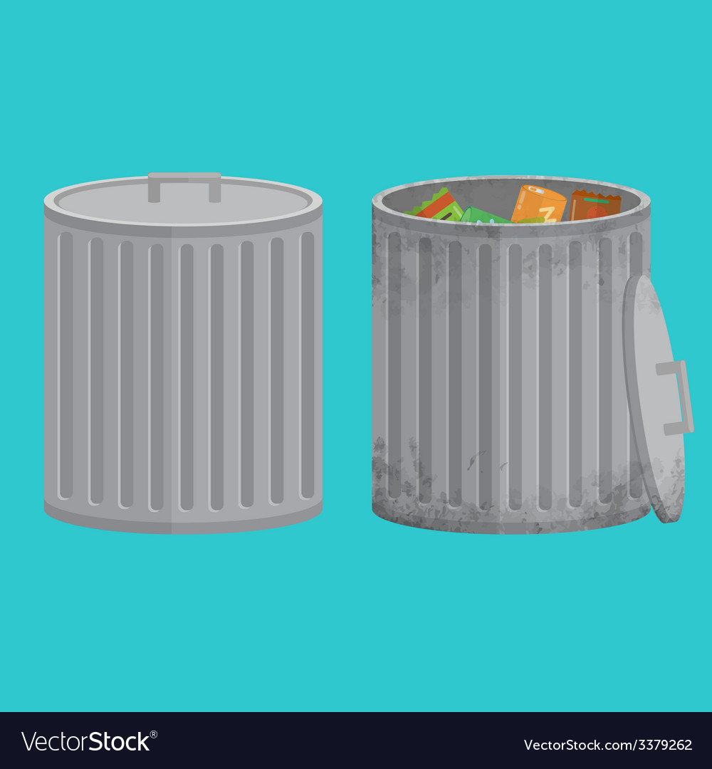 Trash cans two icon xxl vector   Price: 1 Credit (USD $1)
