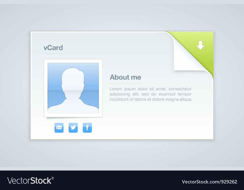 Visit card personal info vector | Price: 3 Credit (USD $3)