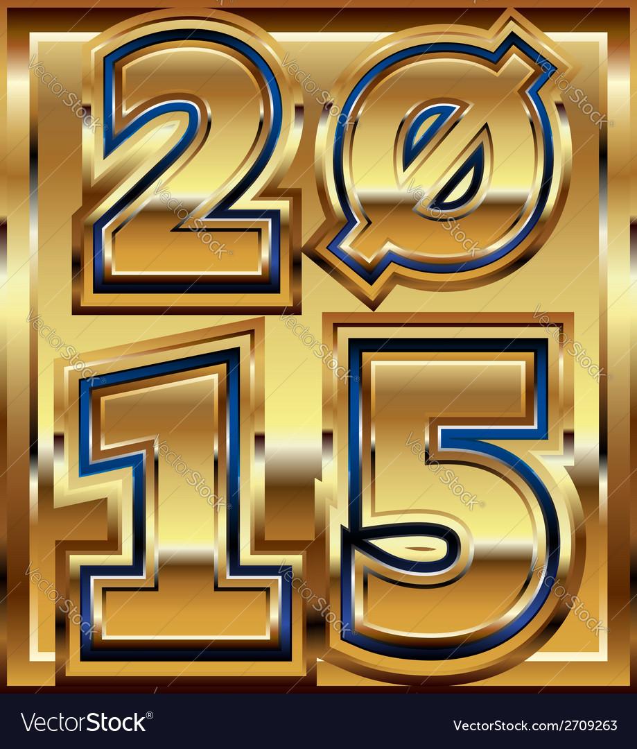 2015 golden effect vector