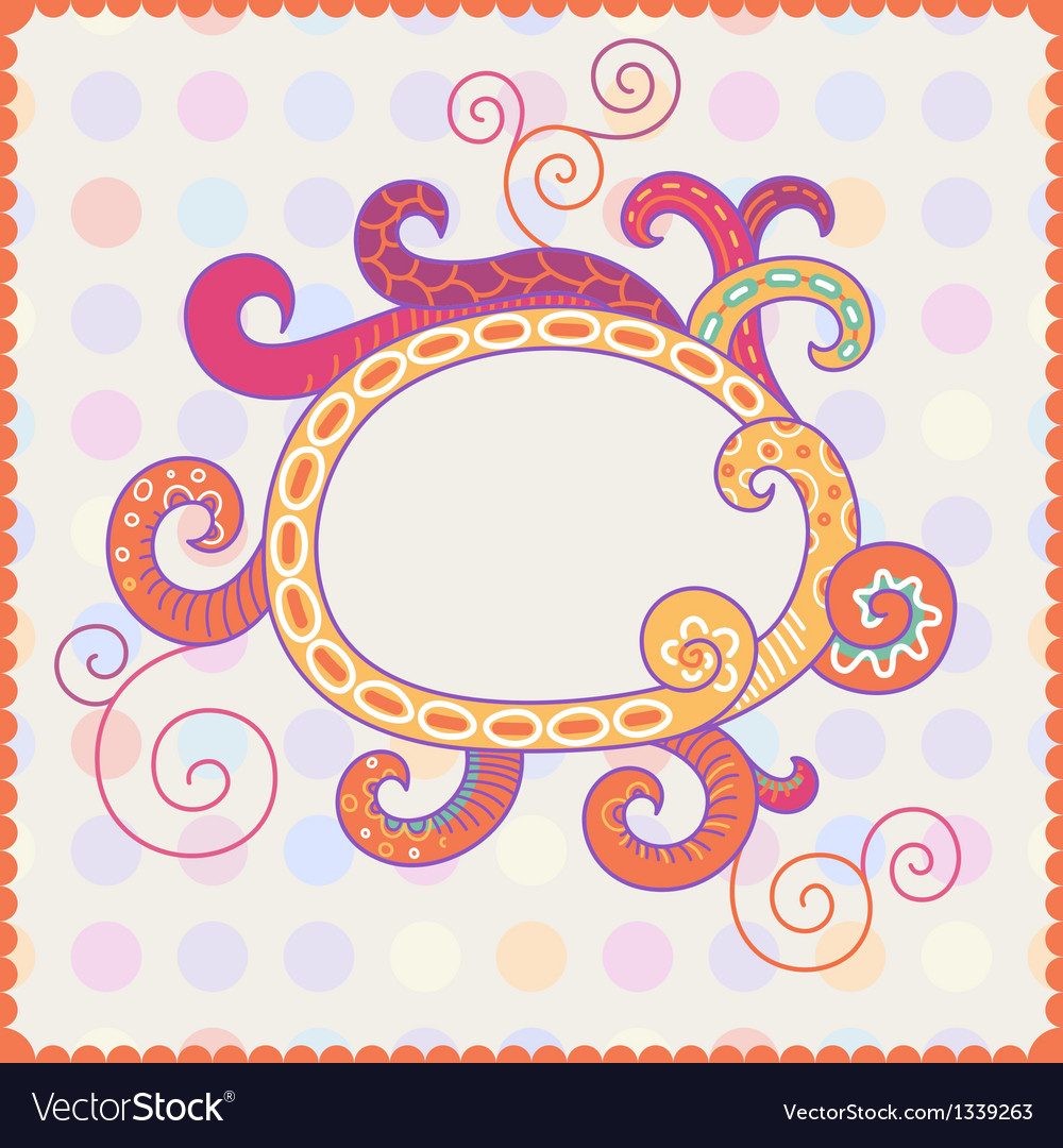 Background with bright frame vector | Price: 1 Credit (USD $1)