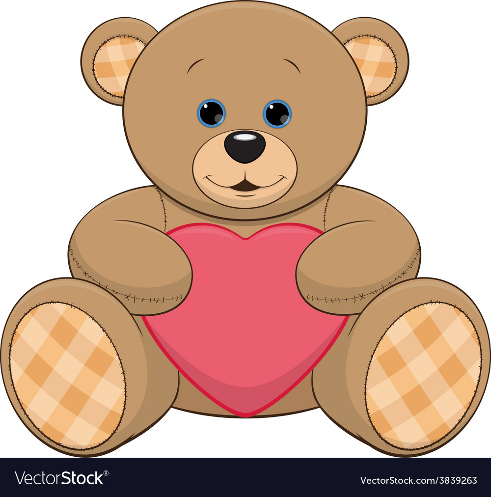 Cute teddy bear vector | Price: 1 Credit (USD $1)