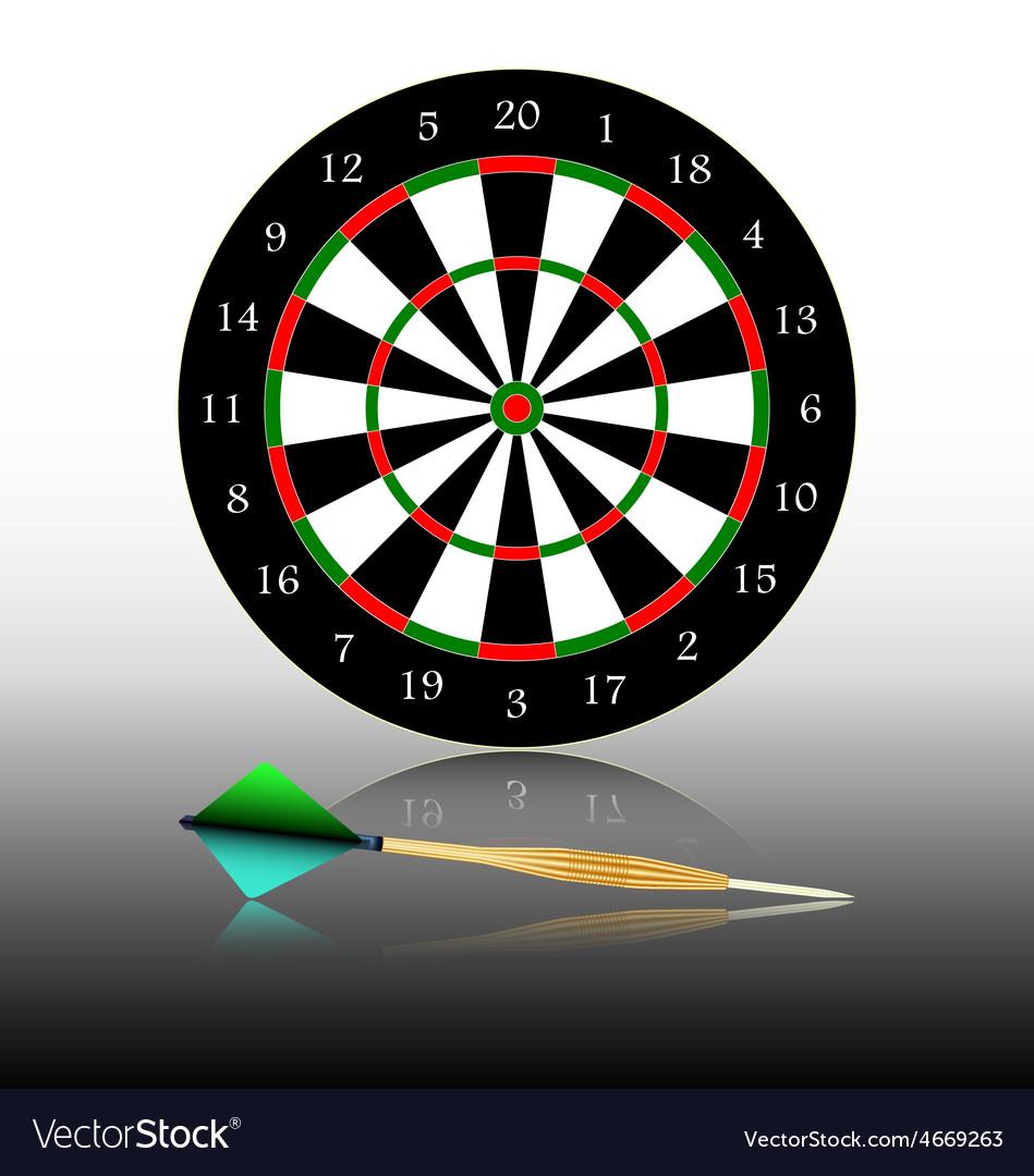 Dartboard games play vector | Price: 1 Credit (USD $1)
