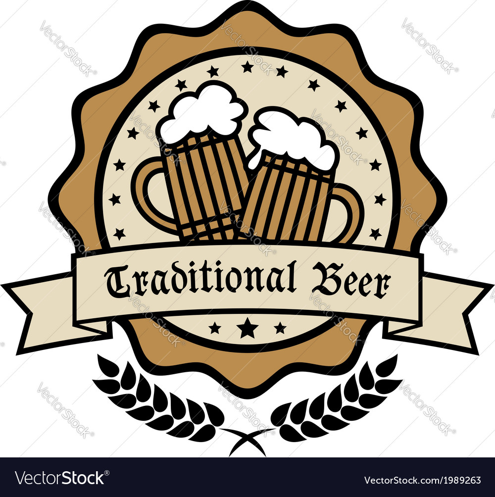Emblem for traditional beer vector | Price: 1 Credit (USD $1)
