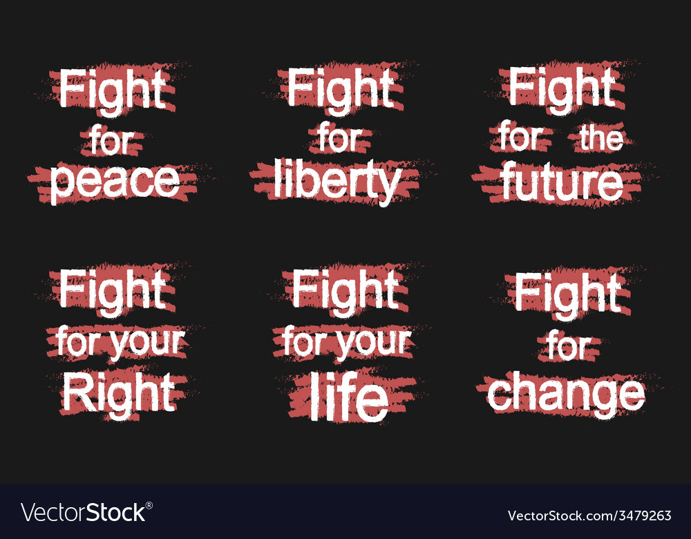 Fight for slogans on black vector | Price: 1 Credit (USD $1)