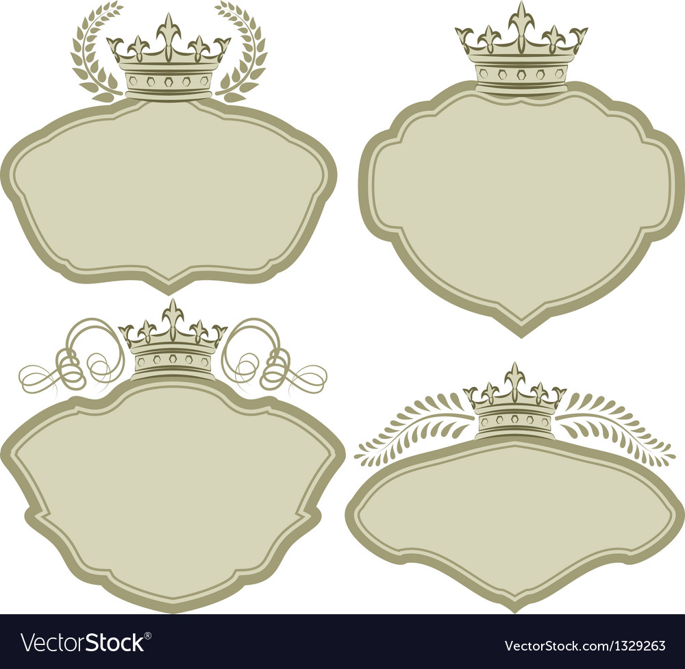 Frames with crown vector | Price: 1 Credit (USD $1)