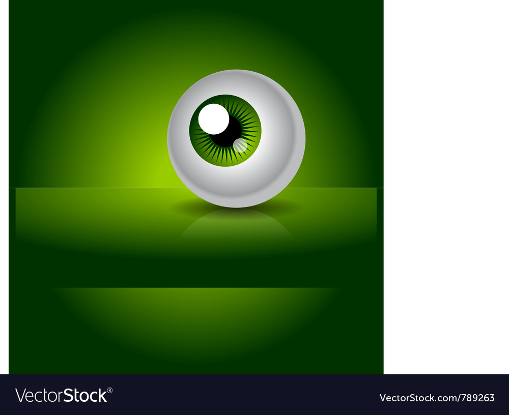 Green eye with gradient vector | Price: 1 Credit (USD $1)