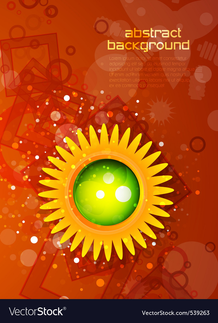 Modern sunflower vector | Price: 1 Credit (USD $1)