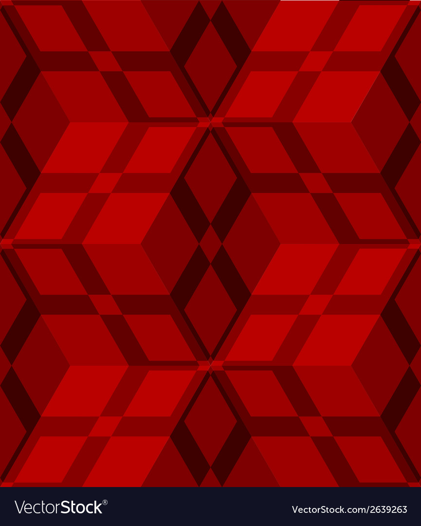 Red 3d cubes striped with net seamless pattern vector   Price: 1 Credit (USD $1)