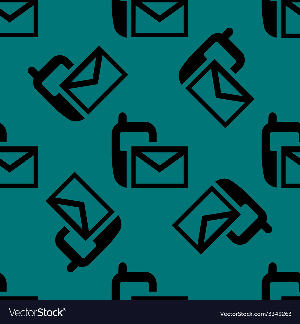 Sms web icon flat design seamless pattern vector   Price: 1 Credit (USD $1)