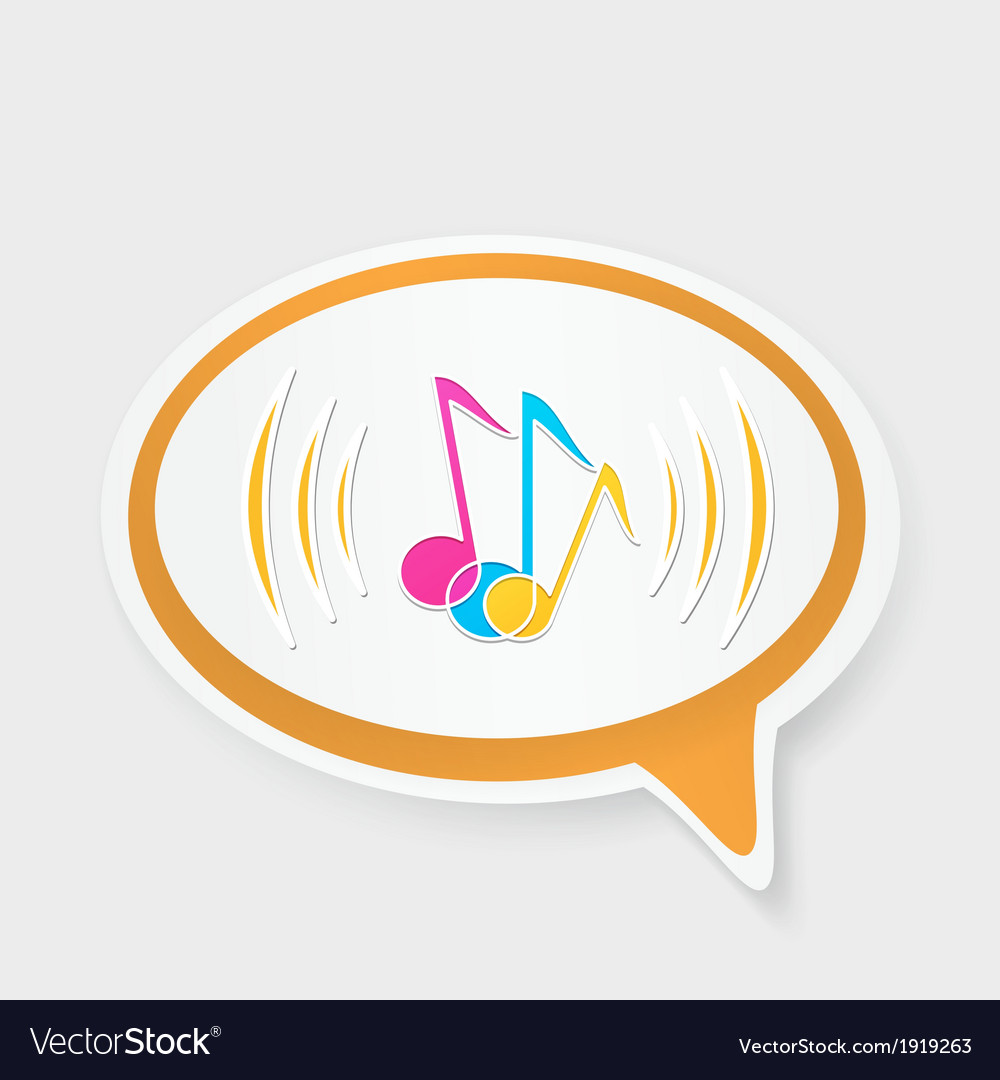 Speech bubble with notes vector | Price: 1 Credit (USD $1)