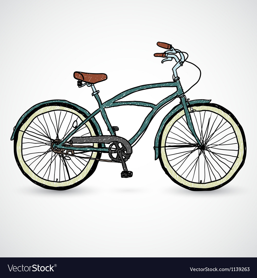 Vintage bicycle - vector | Price: 1 Credit (USD $1)