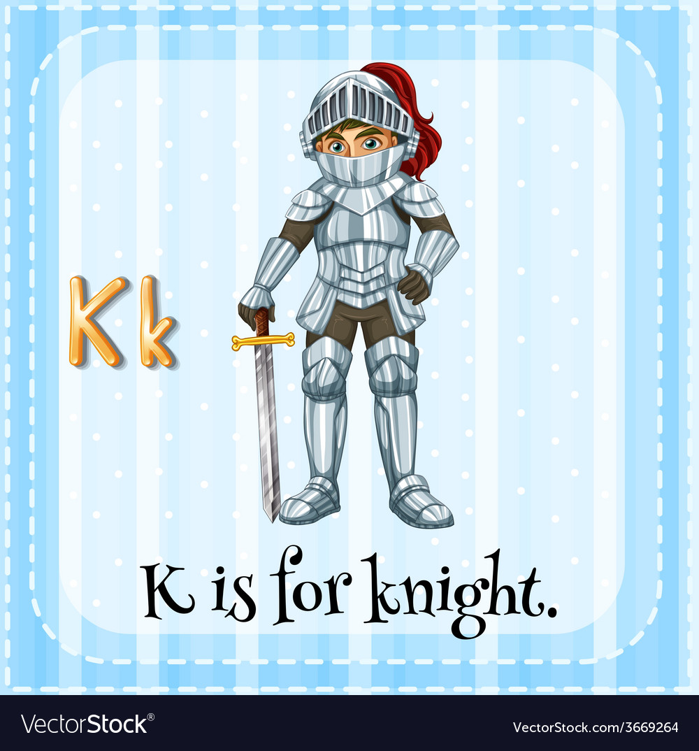 A letter k for knight vector | Price: 1 Credit (USD $1)