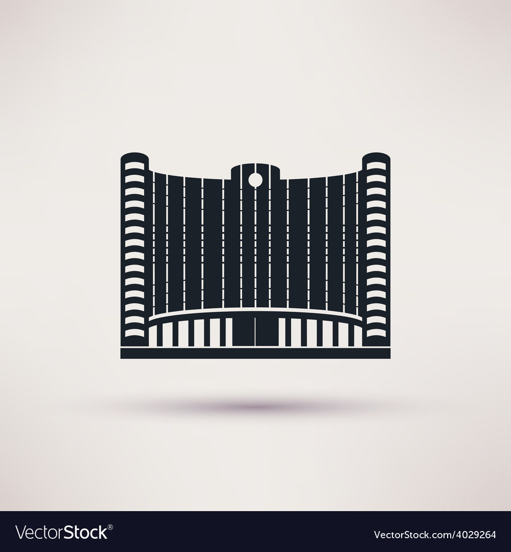 Bank building on flat style concept vector | Price: 1 Credit (USD $1)