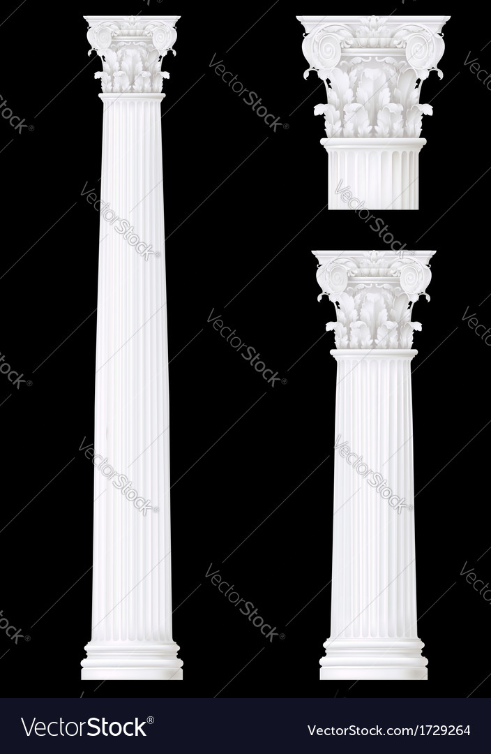 Corithian column vector | Price: 1 Credit (USD $1)